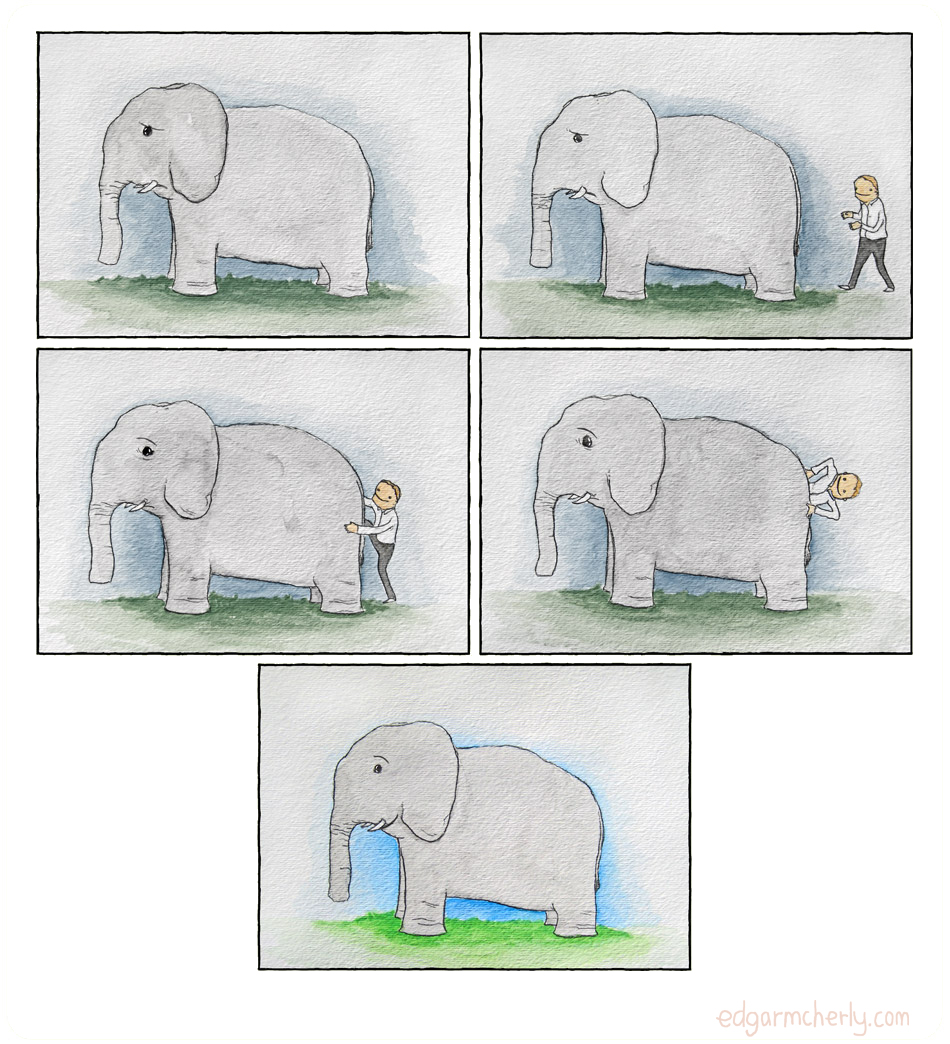 unhappy elephant comic